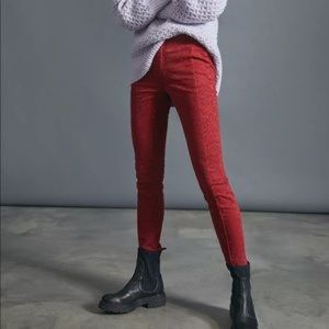 NWT Anthropologie Pilcro Red Printed Pants 26